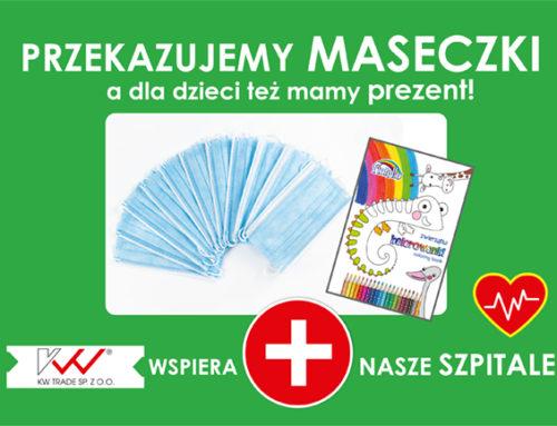 KW trade Sp. z o.o. przekazuje szpitalom dziecięcym 8000 maseczek jako wsparcie w walce z koronawirusem SARS-Cov-2
