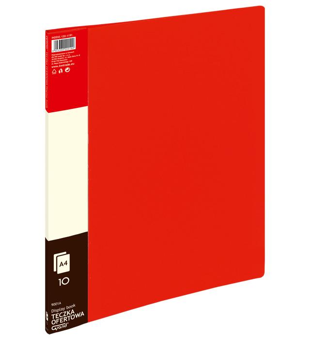 Teczka ofertowa 9001 A  10 koszulek GRAND czerwona