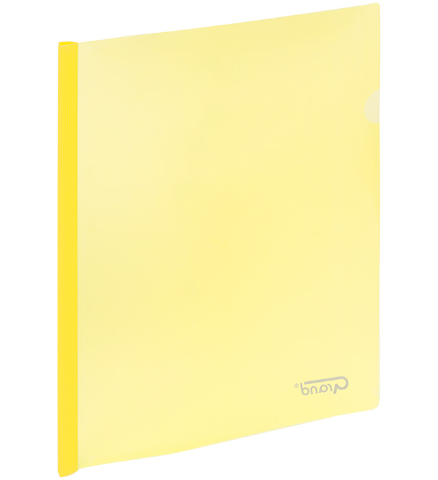 Skoroszyt zaciskowy 9111 żółty GRAND