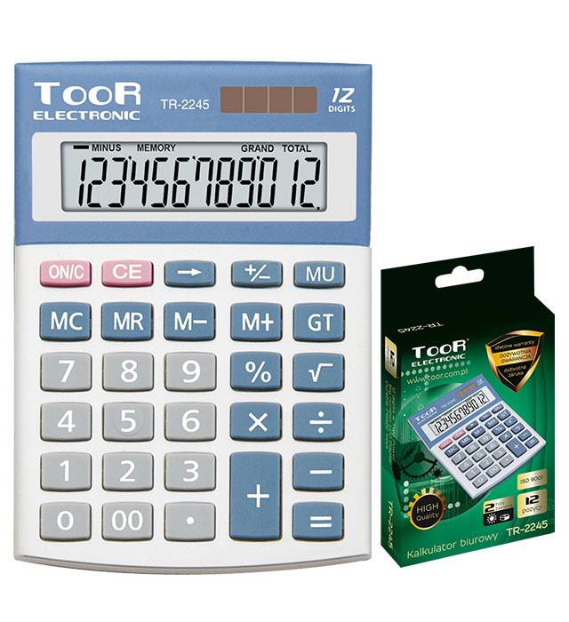 Kalkulator biurowy TOOR TR-2245 12-pozycyjny
