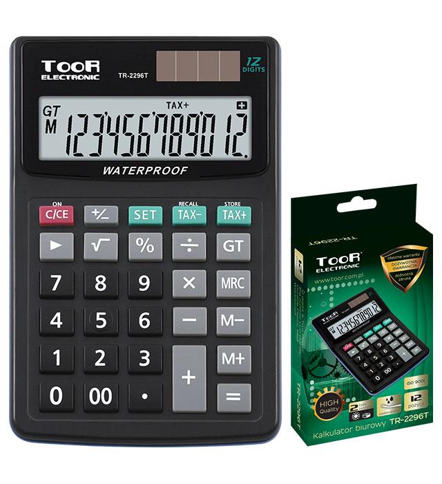 Kalkulator biurowy TOOR TR-2296T 12-pozycyjny - wodoodporny