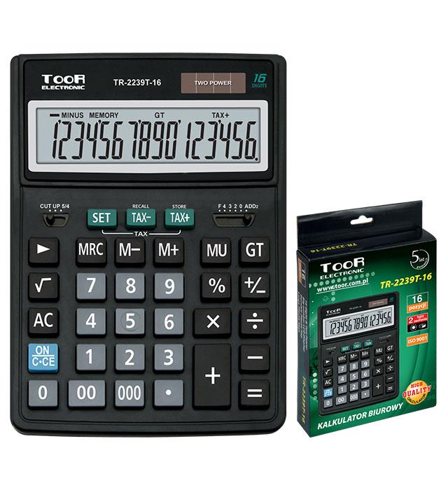 Kalkulator biurowy TOOR TR-2239T 16-pozycyjny