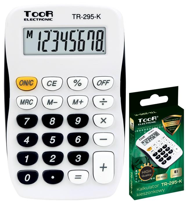 Kalkulator kieszonkowy TOOR TR-295-K 8-pozycyjny kieszonkowy