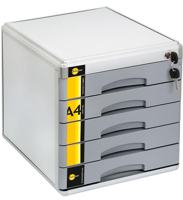 Szafka na dokumenty Yellow One YL-SM05 metalowa - 5 szufl. +zamek