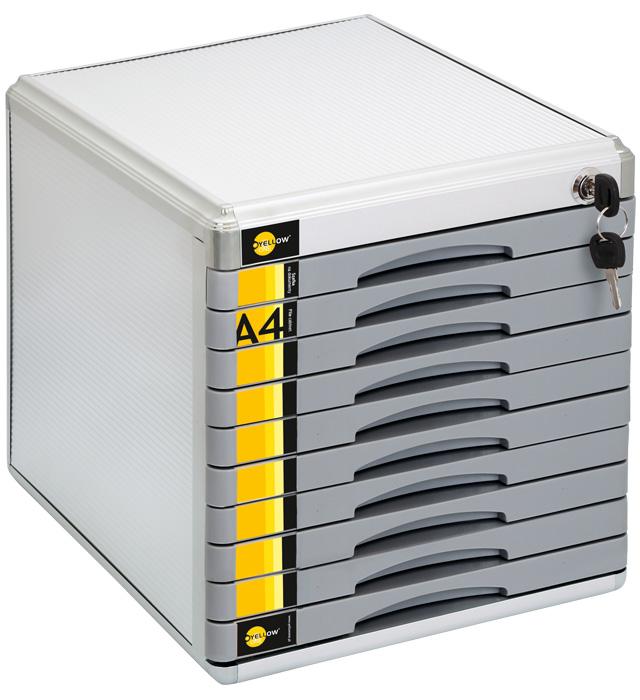 Szafka na dokumenty Yellow One YL-SM10 metalowa - 10 szufl. +zamek
