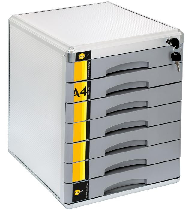 Szafka na dokumenty Yellow One YL-SM07 metalowa - 7 szufl. +zamek