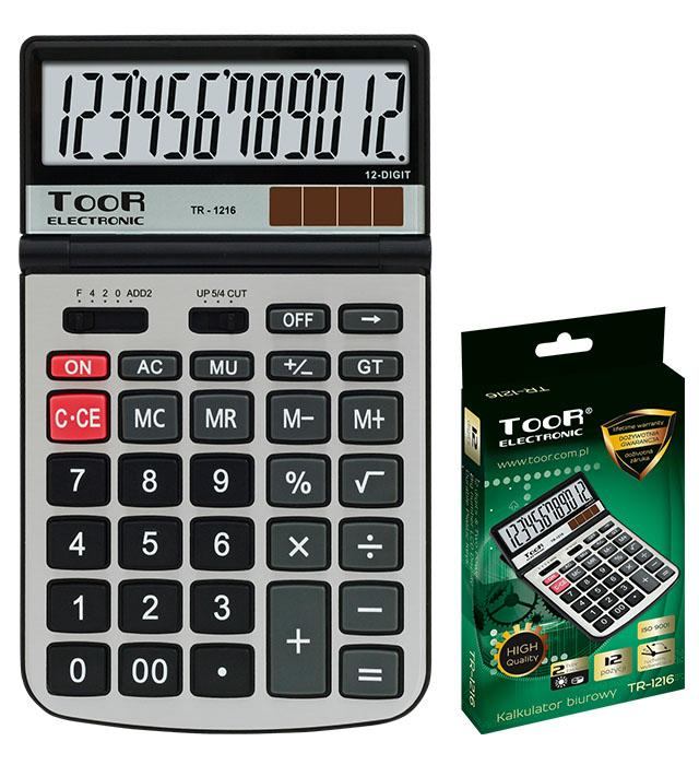 Kalkulator biurowy TOOR TR-1216 12-pozycyjny