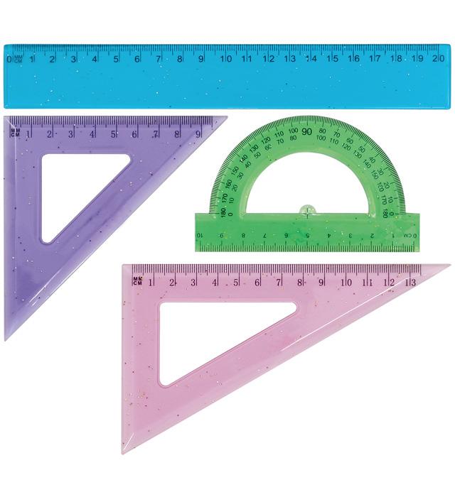 Zestaw geometryczny  brokatowy  GR-032