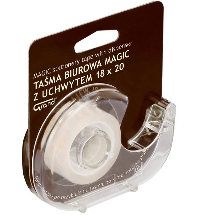 Taśma biurowa GRAND 18x20 MAGIC z dispenserem