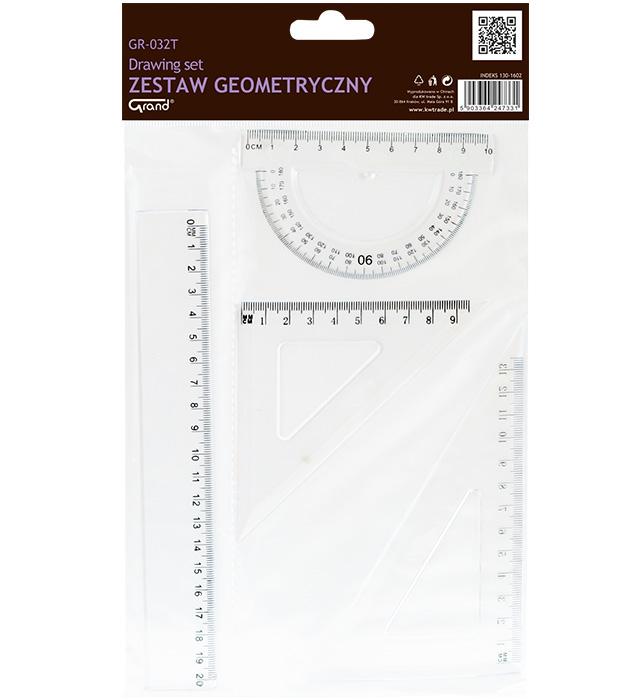 Zestaw geometryczny  transparent GR-032T
