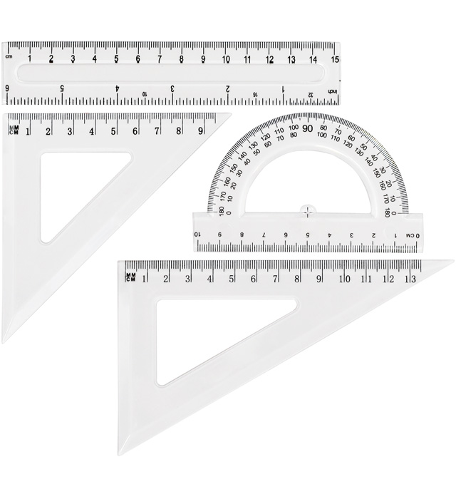 Zestaw geometryczny  transparent GR-031T