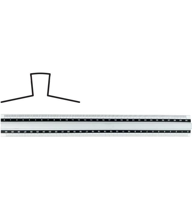 Linijka GRAND aluminiowa z uchwytem 30 cm GR-115-30