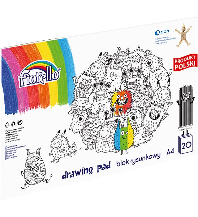 Blok rysunkowy Fiorello A4/20 kartek
