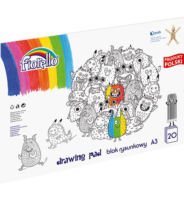 Blok rysunkowy Fiorello A3/20 kartek