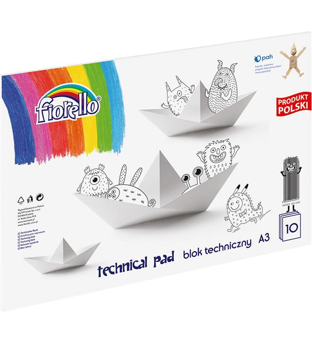 Blok techniczny Fiorello  A3/10 kartek