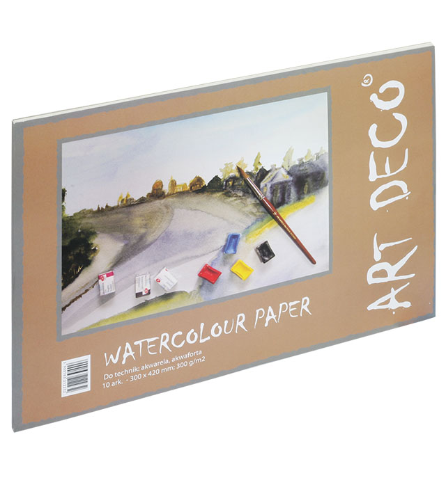 Blok Akwarela-malarski 420x594 300g 10 ark   (A2)