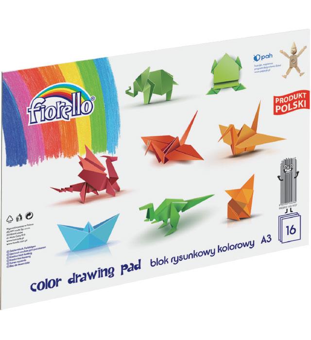 Blok rysunkowy kolorowy FIORELLO A3/16 kartek