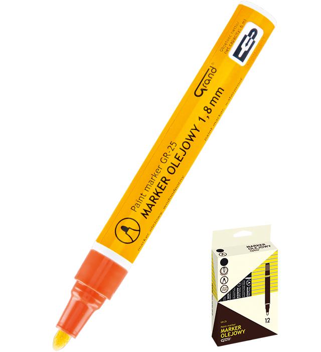 Marker olejowy GRAND GR-25 pomarańczowy
