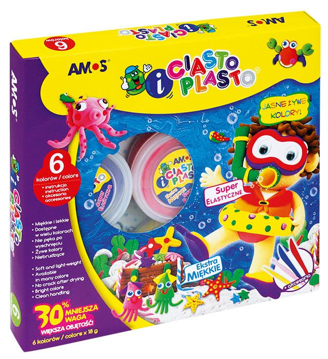 CiastoPlasto AMOS IC6PT - 6 kolorów + akcesoria