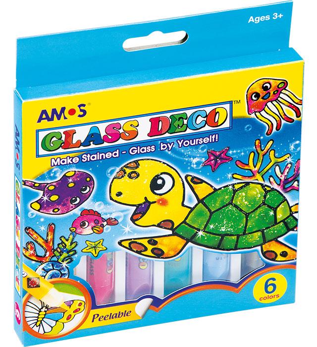 Farby witrażowe AMOS GD10P6 - 10,5 ml x 6 kolorów