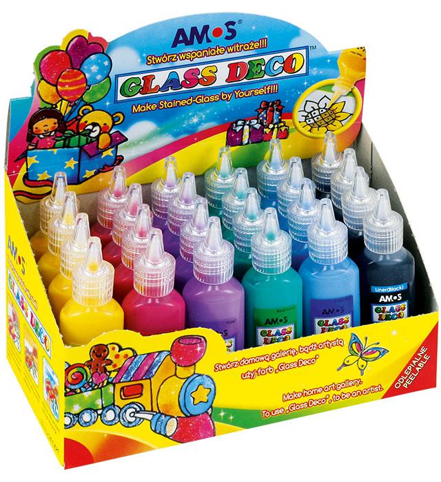 Farby witrażowe AMOS GD22D24 - 6 kolorów x 4 szt.