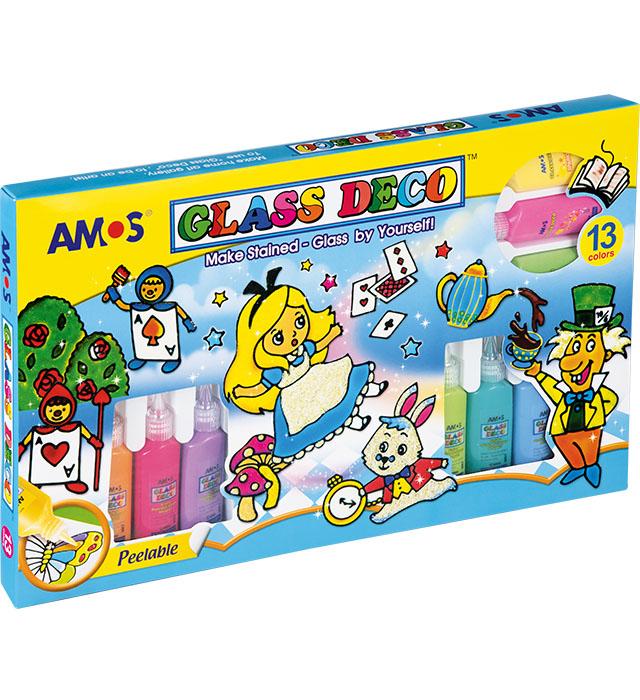 Farby witrażowe AMOS GD22P13 - 22ml x 13 kolorów