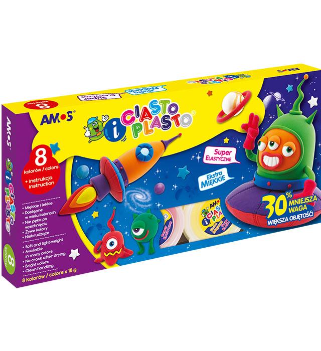 CiastoPlasto AMOS IC8P - 8 kolorów