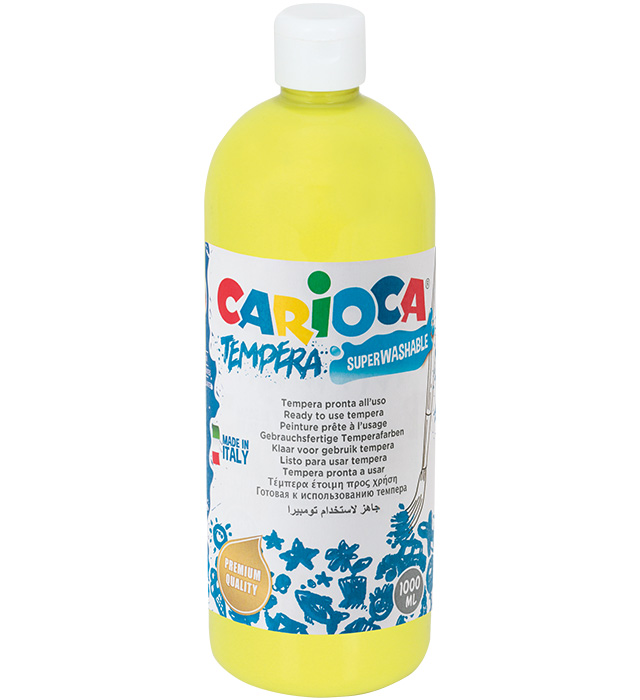Farba Carioca tempera 1000 ml (KO030/12) żółta cytrynowa