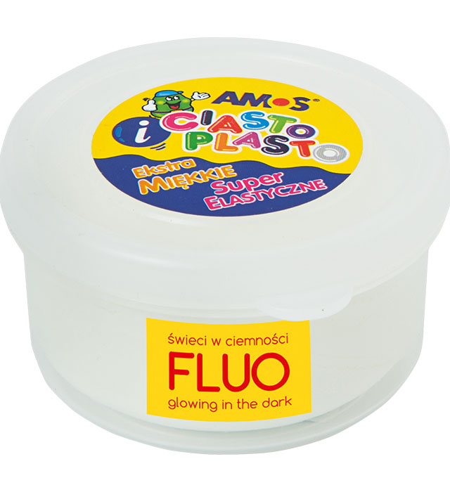 CiastoPlasto AMOS 30 gram kolor biały fluo
