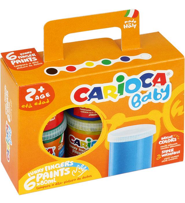 Farba Carioca tempera DO MALOWANIA PALCAMI 80ml a6(KO023/KO032)
