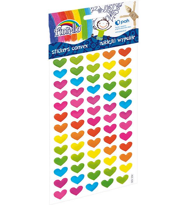 Naklejki wypukłe Fiorello GR-NP139 serca jednolite kolory